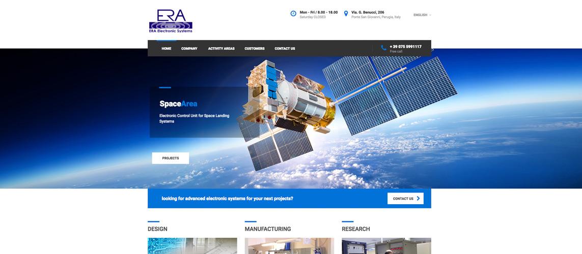 Era electronic systems nuovo sito internet for Design sito